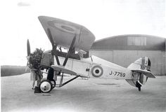 The Armstrong Whitworth Siskin was a British biplane single-seat fighter… Fighter Aircraft, Fighter Jets, Siskin, Aircraft Design, World War One, Air Show, Wwi, Military Aircraft, Aviation
