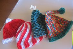 Crocheted Christmas hats