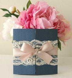 Einladungskarten für Hochzeit, Geburtstag -Einladungskarten mit Blumen