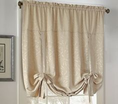 Curtain & Bath Outlet - Whitfield Jacquard Tie up Curtain Shade