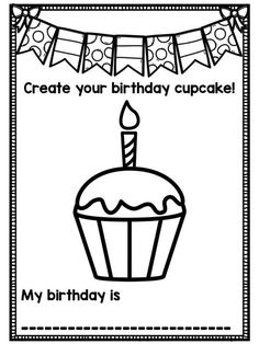 { Back to School } All About Me Book - Now Editable! - This birthday page is part of our Back to School All About Me packet. It is perfect for Preschool, - All About Me Preschool Theme, All About Me Crafts, All About Me Book, September Preschool Themes, September Crafts, Preschool Birthday, Birthday Activities, Preschool Classroom, Classroom Ideas