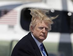 sure has a lot of hair. all in the wrong place. ever notice how cool, confident older men always go gray/white/silver or just plain bald? nothing uncooler than a with fake tan and fake blond hair. he's the epitome of uncool Donald Trump Wife, Donald Trump Hair, Donald Trump Twitter, David Mack, Ivana Trump, Trump New, Fake Tan, Windy Day, Going Gray