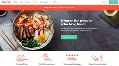 Finding design inspiration for your next landing page can be tough. To help you out, we've selected ten modern landing page design examples that convert. Best Landing Page Design, Best Landing Pages, Meal Delivery Service, Love Food, Cravings, Plating, Meals, Fresh, Brand Management