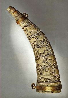 Hunting horn engraved