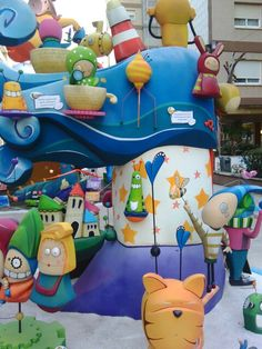 "Falla infantil "" El Grill "" 2015 Ilustración Margarita Espinosa Www.caperucitazul.com"