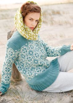 Ravelry: # 11 Pullover mit Jacquardmuster pattern by Rebecca Design Team Fair Isle Knitting, Lace Knitting, Knitting Patterns, Knit Crochet, Ski Sweater, Pullover, Trends, Crochet Clothes, Knitwear