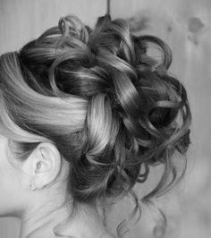 Future wedding bridesmaid hair style with a little flower on the side