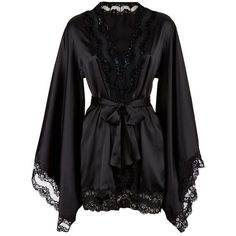 Agent Provocateur Luna Kimono ($570) ❤ liked on Polyvore featuring intimates, robes, lingerie, pajamas, underwear, dresses, sexy kimono, sheer lingerie, sexy lingerie and sexy bath robe