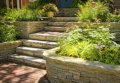 Stairs and Steps - Landscaping and Landscape Design for Patio, Retaining Wall, Backyard and