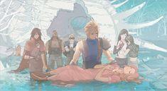 The Funeral of Aerith Final Fantasy Cloud, Final Fantasy Artwork, Final Fantasy Characters, Final Fantasy Vii Remake, Fantasy Series, Fantasy World, Manga, Final Fantasy Collection, Nintendo