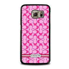 COACH PINK NEW LOGO For Samsung Galaxy S3 S4 S5 S6 S7 Edge Note 3 4 5 Phone Case