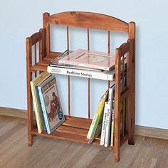 Home 2-Shelf Wood Bookcase Chinese Fir, Cedar finish Petite Size #PetiteBookcase