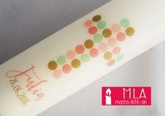 Taufkerzen - Taufkerze - ein Designerstück von Machs-Licht-an bei DaWanda