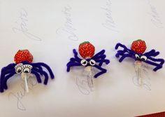 Pavouci z lízátek