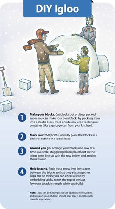 Make outside the new inside this winter by building an igloo. #DIY #snow #family
