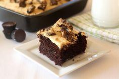 Chocolate Peanut Butter Cup Texas Sheet Cake