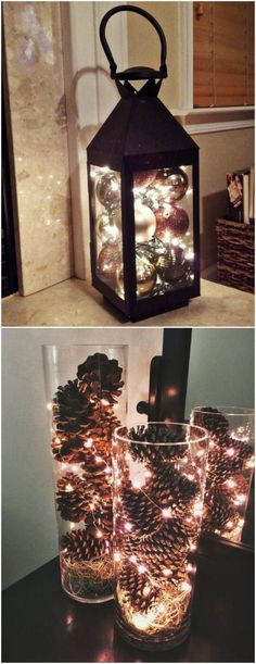 Creative Ideas for New Year Decoration – Visit our site for the most beautiful diy projects Wedding Hall Decorations, New Years Decorations, Christmas Decorations, Vase Arrangements, New Years Party, Boho Decor, Creative, Rustic Wedding, Diy And Crafts