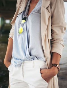 Grey Loose Wrap Blouse