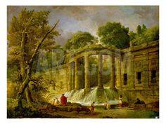 Pavilion with Cascade, 1760 Giclee Print by Hubert Robert at Art.com