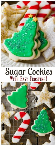Easy Sugar Cookie Recipe (With Icing!) Simply the BEST Sugar Cookie Recipe with an easy to make sugar cookie frosting! via Easy Sugar Cookie Recipe (With Icing!) Simply the BEST Sugar Cookie Recipe with an easy to make sugar cookie frosting! Easy Sugar Cookie Frosting, Homemade Sugar Cookies, Sugar Cookie Recipe Easy, Easy Cookie Recipes, Simple Sugar Cookie Recipe, Frosted Sugar Cookies, Vanilla Sugar Cookies Recipe, Sugar Cookie Icing Recipe That Hardens, Frosting For Cookies