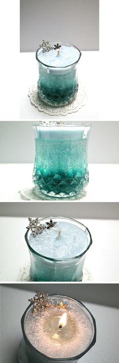 Frozen Elsa Candle