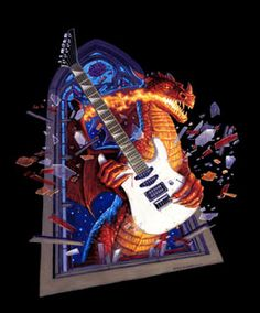 TSO Dragon Guitar , Greg Hildebrandt