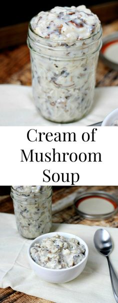 Homemade condensed cream of mushroom soup is so easy to make and a perfect replacement for the canned stuff!