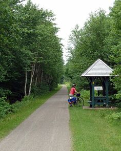 Picnic kiosks are regularly and generously afforded all along PEI's Confederation Trail.