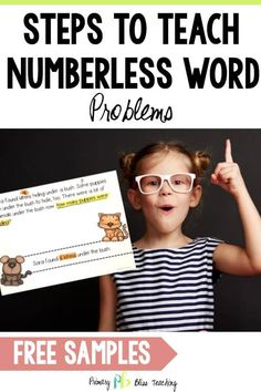 Learn about an easy strategy that helps students become ROCKSTAR problem solvers. First Grade Lessons, First Grade Math, Math Lessons, Grade 1, Second Grade, Math Fact Practice, Math Help, Math Fact Fluency, Math Words