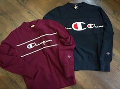 Go bold this season with a big logo sweat from In store now online soon. Champion Clothing, Marca Tommy, T Shorts, Sports Luxe, Suede Loafers, Boys Shirts, Swagg, Champs, Boy Outfits