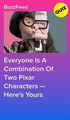 Everyone Is A Combination Of Two Pixar Characters — Here's Yours Princess Quizzes, Disney Princess Facts, Disney Facts, Buzzfeed Quizzes Love, Disney Buzzfeed, Disney Test, Disney Quiz, Buzzfeed Personality Quiz, Personality Quizzes