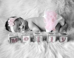Divine Image Photography - newborn ideas  Love the black and white with pop of color