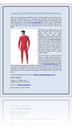 Choose your perfect union suit underwear from online shop