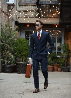 Club Monaco linen suit & tie | Paul Evans oxfords | Feat. on http://iamgalla.com