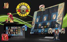 Avail £5 bonus on sign up at Vegas Paradise, #play Guns N' Roses slots and enjoy rocking #jackpot of up to 2000 coins