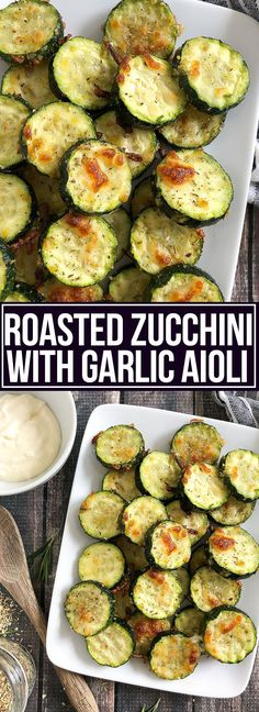 Roasted Zucchini with Garlic Aioli - Mother Thyme