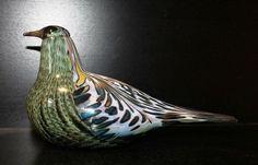 Birds by toikka Laulurastas der ZWEITE Jahresvogel 1997 perfekt IITTALA signiert Glass Ceramic, Finland, Glass Art, Birds, Ceramics, My Love, Decor, Sculptures, Figurine