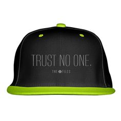 Trust No One The X Files Embroidered Snapback Hat