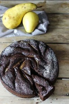 Torta soffice pere e cioccolato (senza latte e burro) | Anna On The Clouds Sweet Recipes, Cake Recipes, Dessert Recipes, Torte Cake, Healthy Cake, Gluten Free Desserts, Vegan Dishes, Cakes And More, Fett