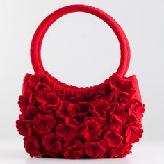 Red Flower Purse, Accessories, Apparel & Accessories, New Gifts For Fall - The Museum Shop of The Art Institute of Chicago