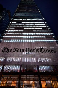 The Headquarters For The Global Newspaper The New York Times