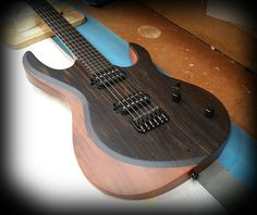 Kiesel Guitars Carvin Guitars A6 (Aries) with an ebony top, koa body in a satin finish with Kiesel Lithium pick ups and Hipshot bridge