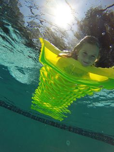 Doug Schoen took this photo with his GoPro camera from under the pool water.