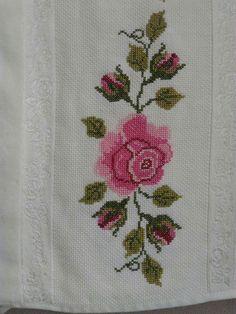 Ribbon Embroidery, Cross Stitch Embroidery, Cross Stitch Flowers, Elsa, Crafts, Baby, Cross Stitch Fruit, Bath Towels & Washcloths, Cross Stitch Family