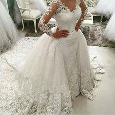 White ivory Wedding dress Bridal Gown custom size 2 4 6 8 10 12 14 16 18 ++