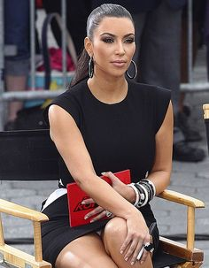 Kim Kardashian #upskirt pics.