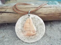 Sand and Sail Pendant by TheRedCrab on Etsy