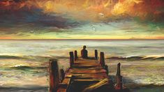 paintings colorful alone scenic seascapes - Wallpaper (#1687979) / Wallbase.cc