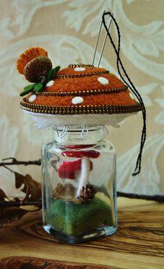 Mushroom terrarium by woolly  fabulous, via Flickr