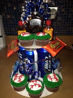 Man's birthday cake